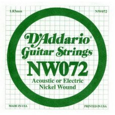 Струны для электрогитары D'Addario NW072 XL Nickel Wound 072