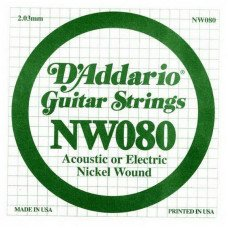 Струны для электрогитары D'Addario NW080 XL Nickel Wound 080