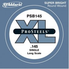 Струны для бас-гитары D'Addario PSB145 XL Pro Steels Round Wound Single 145 (одна струна)