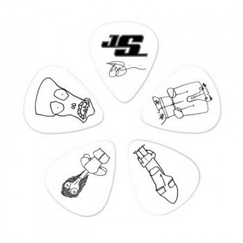 Planet Waves PW1CWH4-10JS Joe Satriani Picks White Medium