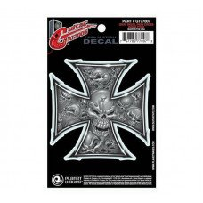 Наклейка для гитары Planet Waves GT77007 Guitar Tatoo, Grey Iron Cross