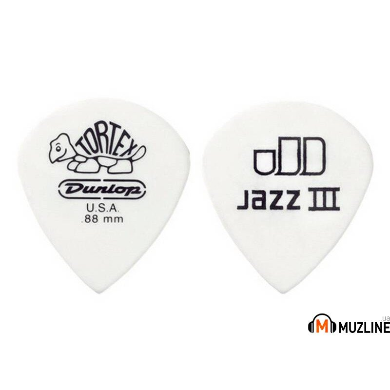 Dunlop 478P1.14 Tortex White Jazz III Players Pack 1.14