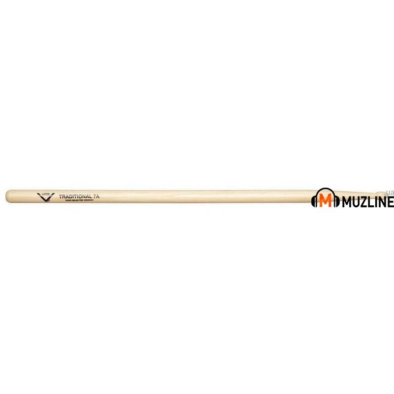 Барабанные палочки Vater VHT7AW American Hickory Traditional 7A
