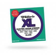 Струны для электрогитары D'Addario XL155 XL Guitar  Bass Jerry Jones 24-84