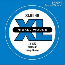 Струны для бас-гитары D'Addario XLB145 XL Nickel Round Wound Single 145 (одна струна)