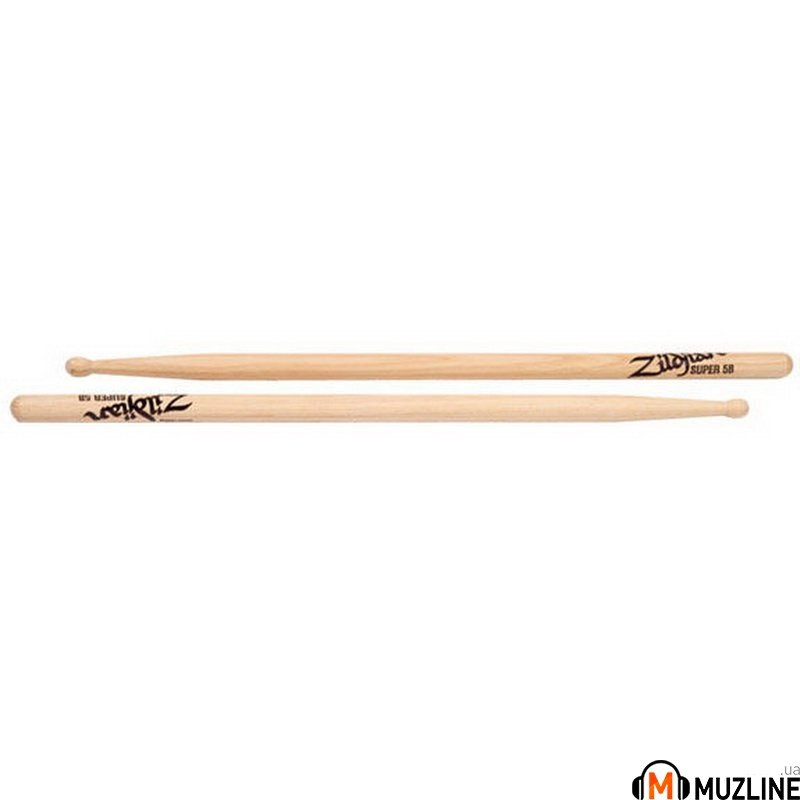 Барабанные палочки Zildjian Super 5B Wood Natural Drumsticks