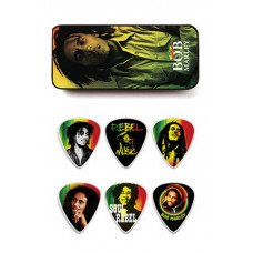 Dunlop BOB PT01M Bob Marley Rasta Series Pick Tin Medium