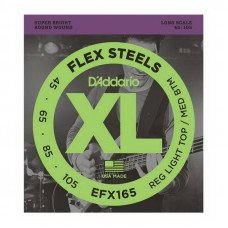 Струны для бас-гитары D'Addario EFX165 XL Flex Steels Reg Light Top / Med Bottom 45-105