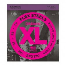 Струны для бас-гитары D'Addario EFX170 XL Flex Steels Light 45-100