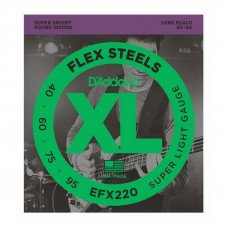 Струны для бас-гитары D'Addario EFX220 XL Flex Steels Super Light 40-95