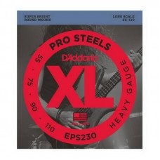 Струны для бас-гитары D'Addario EPS230 XL Pro Steels Bass Heavy 55-110