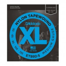 Струны для бас-гитары D'Addario ETB92-5 XL Nylon Tapewound 5 String Bass 50-135