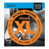 D'Addario EXL110Bt Xl Nickel Balanced Tension, Regular Light 10-46