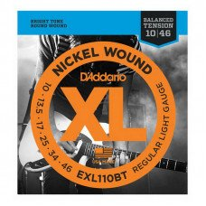 Струны для электрогитары D'Addario EXL110Bt Xl Nickel Balanced Tension, Regular Light 10-46