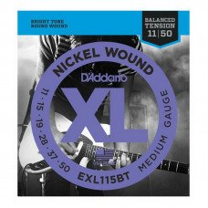 Струны для электрогитары D'Addario EXL115Bt Xl Nickel Balanced Tension, Medium 11-50
