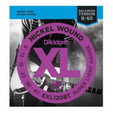 Струны для электрогитары D'Addario EXL120Bt Xl Nickel Balanced Tension, Super Light 09-40
