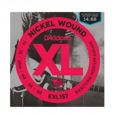 Струны для электрогитары D'Addario EXL157 Xl Baritone Medium 14-68
