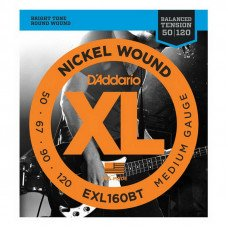 Струны для бас-гитары D'Addario EXL160BT XL Balanced Tension Bass Medium 50-120