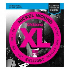 Струны для бас-гитары D'Addario EXL170BT XL Balanced Tension Bass Reg Light 45-107