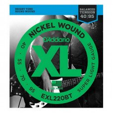Струны для бас-гитары D'Addario EXL220BT XL Balanced Tension Bass Super Light 40-95
