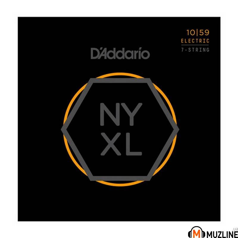 Струны для электрогитары D'Addario NYXL1059 Regular Light 7-String 10-59