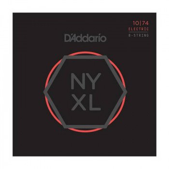 Струны для электрогитары D'Addario NYXL1074 Light Top  Heavy Bottom 8-String 10-74
