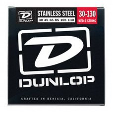 Струны для бас-гитары Dunlop DBS30130 Stainless Steel Medium 6 String 30-130