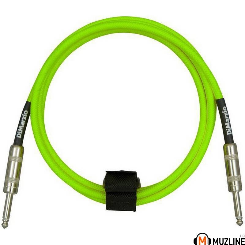 Инструментальный кабель Jack - Jack DiMarzio EP1710SS Instrument Cable 10Ft Neon Green