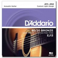 D'Addario EJ13 80/20 Bronze Custom Light 11-52