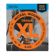 Струны для электрогитары D'Addario EJ22 Xl Jazz Medium 13-56