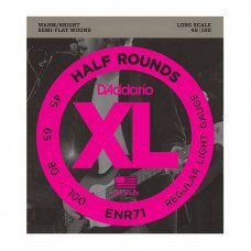 Струны для бас-гитары D'Addario ENR71 XL Nickel Half Rounds Bass 45-100