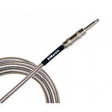 Инструментальный кабель Jack - Jack DiMarzio EP1715SSSM Metallic Instrument Cable 15Ft Chrome