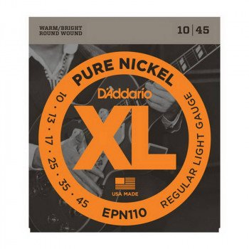 Струны для электрогитары D'Addario EPN110 Xl Pure Nickel Regular Light 10-45