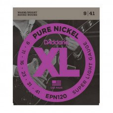 Струны для электрогитары D'Addario EPN120 Xl Pure Nickel Super Light 09-41