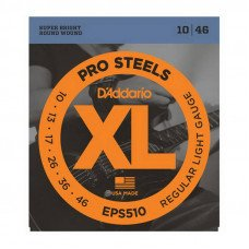 Струны для электрогитары D'Addario EPS510 Xl Pro Steels Regular Light 10-46