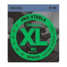 Струны для электрогитары D'Addario EPS530 Xl Pro Steels Extra Super Light 08-38
