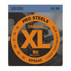 Струны для электрогитары D'Addario EPS540 Xl Pro Steels Light Top Heavy Bottom 10-52