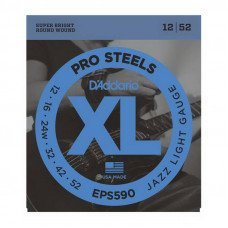Струны для электрогитары D'Addario EPS590 Xl Pro Steels Jazz Light 12-52