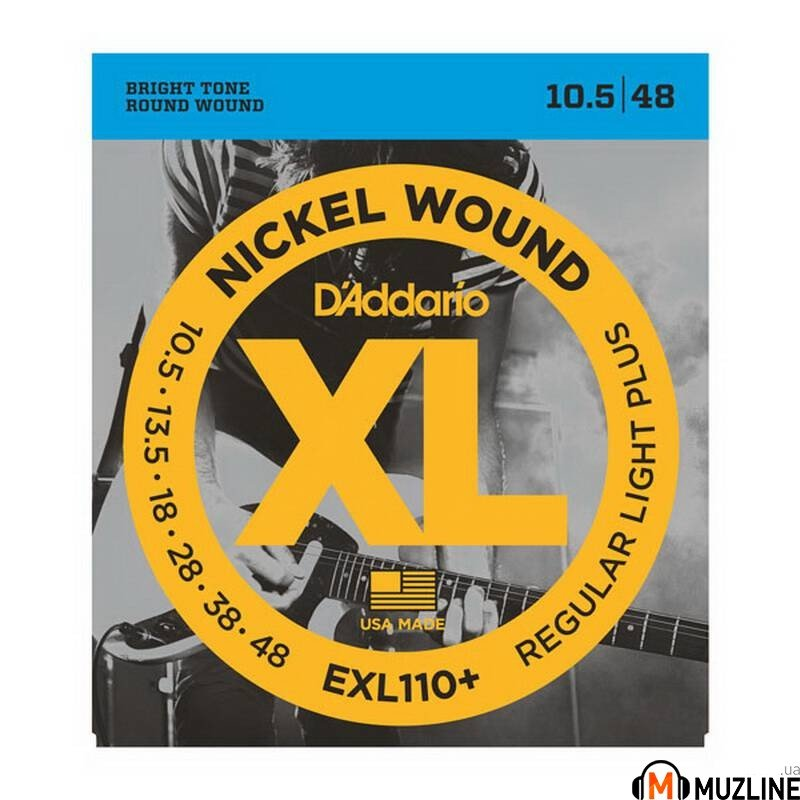 Струны для электрогитары D'Addario EXL110+ Xl Regular Plus 10.5-48