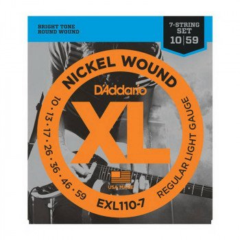 Струны для электрогитары D'Addario EXL110-7 Xl Regular Light 7-String 10-59