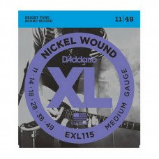 Струны для электрогитары D'Addario EXL115 Xl Blues Jazz Rock 11-49
