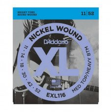 Струны для электрогитары D'Addario EXL116 Xl Medium Top  Heavy Bottom 11-52