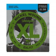 Струны для электрогитары D'Addario EXL117 Xl Medium Top  X-Heavy Bottom 11-56