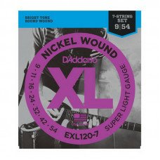 Струны для электрогитары D'Addario EXL120-7 Xl Super Light 7-String 09-54