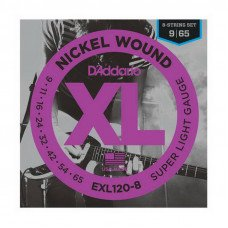 Струны для электрогитары D'Addario EXL120-8 Xl 8-String Super Light 09-65
