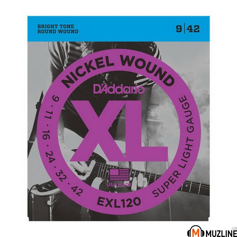 Струны для электрогитары D'Addario EXL120 Xl Super Light 09-42
