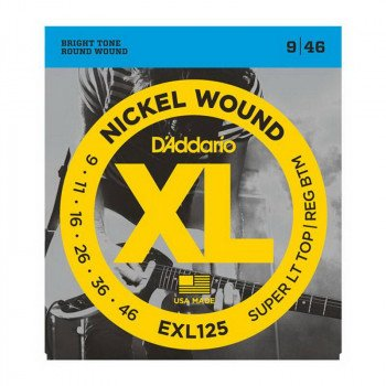 Струны для электрогитары D'Addario EXL125 Xl Super Top  Regular Bottom 09-46