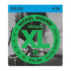 Струны для электрогитары D'Addario EXL130 Xl Extra Super Light 08-38
