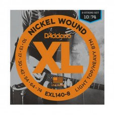 Струны для электрогитары D'Addario EXL140-8 Light Top  Heavy Bottom 8-String 10-74