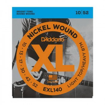 Струны для электрогитары D'Addario EXL140 Xl Light Top  Heavy Bottom 10-52